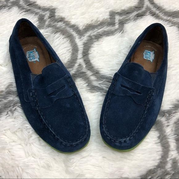 Florsheim Navy Blue Suede Loafers Kids